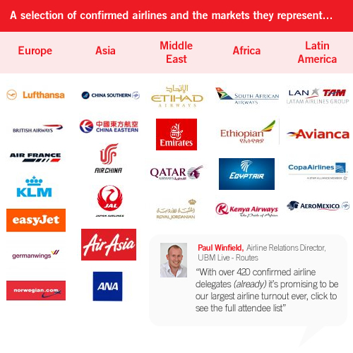 World Routes 2013: Confirmed Airline Attendees :: Routesonline